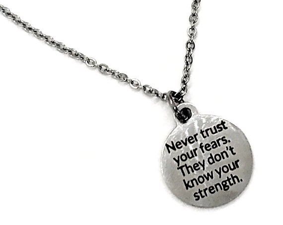 Charm Anklet, Never Trust Your Fears, The Don't Know Your Strength, Strong Woman Gift, Encouragement Gift, Motivational Quote, Encouraging