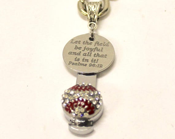 Baseball Bible Verse Keychain, Psalms 29 12 Bible Verse Gift, Baseball Mom Gift, Gift For Her, Gift for Mom, Keyring Gift, Wife Jewelry Gift