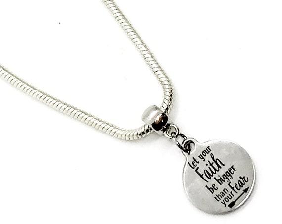 Faith Bracelet, Let Your Faith Be Bigger Than Your Fear Bracelet, European Charm Bracelet, Christian Gift, Christian Jewelry, Gift For Her