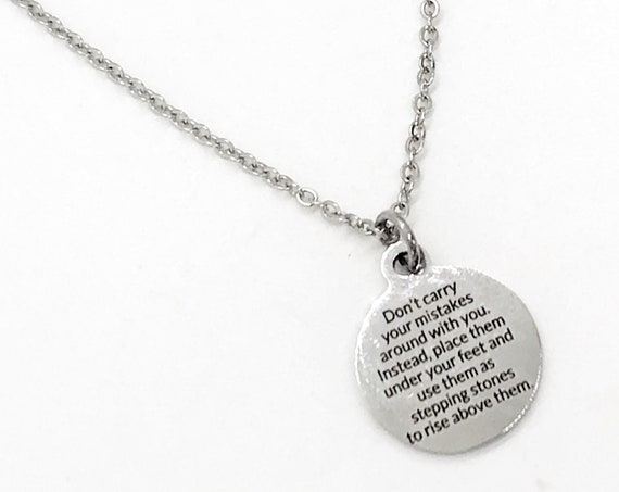 Charm Anklet, Encouraging Gift Anklet, Don't Carry Your Mistakes, Stepping Stones,  Moving Forward, Encouragement Gift, Motivating Quote