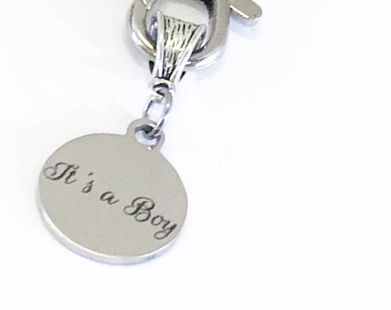 Pregnancy Announcement Gift, Birth Announcement, It's A Boy Keychain, Gender Reveal Gifts, Pregnancy Gifts, Gender Gifts, It's A Boy Gift