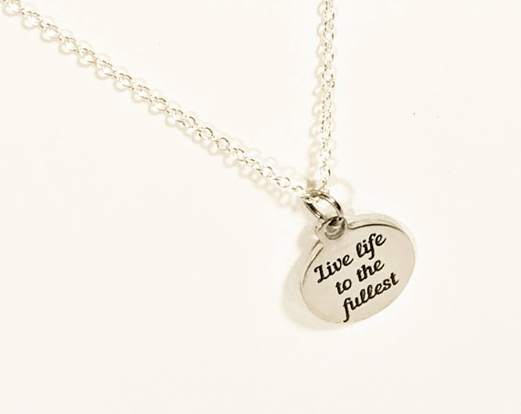 Success Gift, Live Life To The Fullest Necklace, Motivational Gift, Direct Sales Team Gifts, Encouragement Gift, Daughter Jewelry Gift
