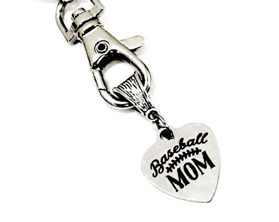 Keychain Gift, Baseball Mom Keychain, Baseball Mom Gift, Baseball Mama Keychain, Team Mom Gift, Mom Squad Gifts, Sports Mom Gift For Her