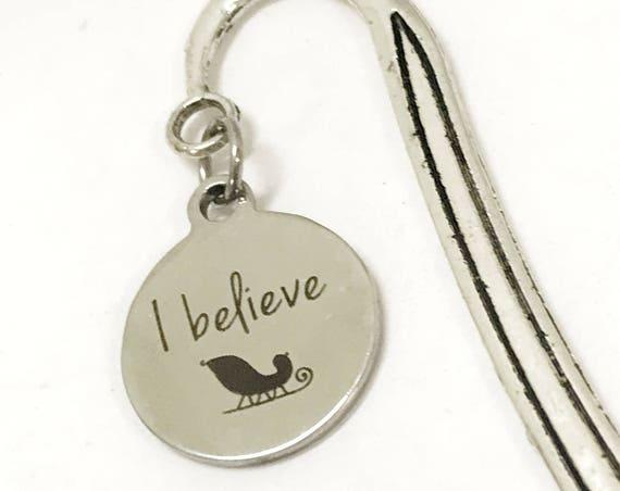 I Believe Bookmark, I Believe In Santa, Planner Bookmark, Christmas Bookmark, I Believe Gift, Reader Gifts, Christmas Reader Gifts