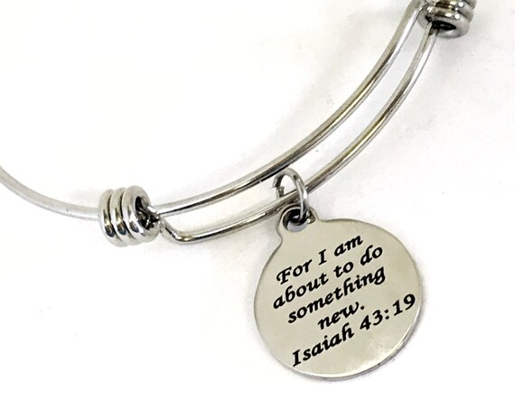 Christian Gift, For I Am About To Do Something New Bracelet, Isaiah 43 19 Bracelet, Christian Jewelry Gift, Christian Bracelet Gift