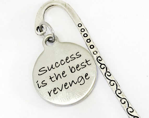 Motivating Gifts, Success Is The Best Revenge Bookmark, Motivating Bookmark, Encouraging Gift, Encouraging Success, Direct Sales Team Gifts