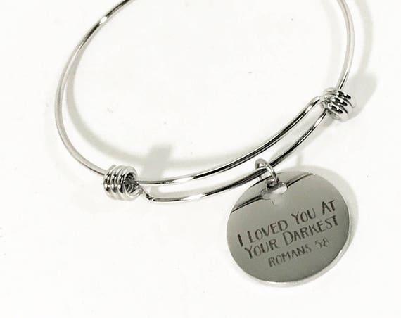 God's Love Bracelet, I Loved You At Your Darkest Bracelet, Christian Bracelet, Bible Verse Bracelet, Scripture Bracelet Gift, Scripture Gift