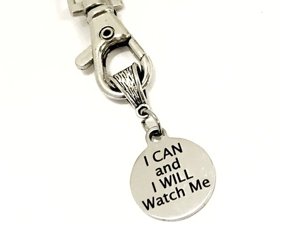 Keychain Gift, I Can And I Will Watch Me Keychain, Motivational Keychain, Daughter Gift, Encouraging Gift, New Business Gifts, Entrepreneur