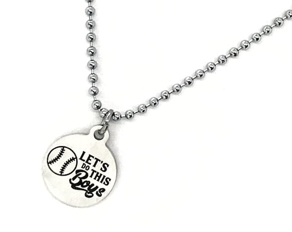 Baseball Player Gift, Lets Do This Boys Necklace, Baseball Necklace, Baseball Team Gifts, Baseball Mom Gifts