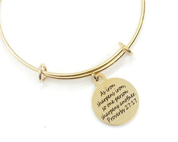 As Iron Sharpens Iron Bracelet, Christian Bracelet, Scripture Bracelet, Proverbs 27 17 Charm, Proverbs Jewelry, Scripture Jewelry Gift
