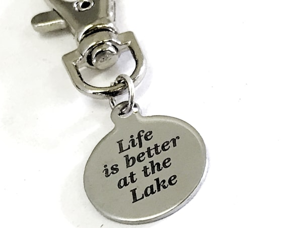 Lake Bag Charm, Life Is Better At The Lake Bag Charm, Life At The Lake Gift, New Lakehouse Gift, Purse Charm, Planner Charm, Wife Gift