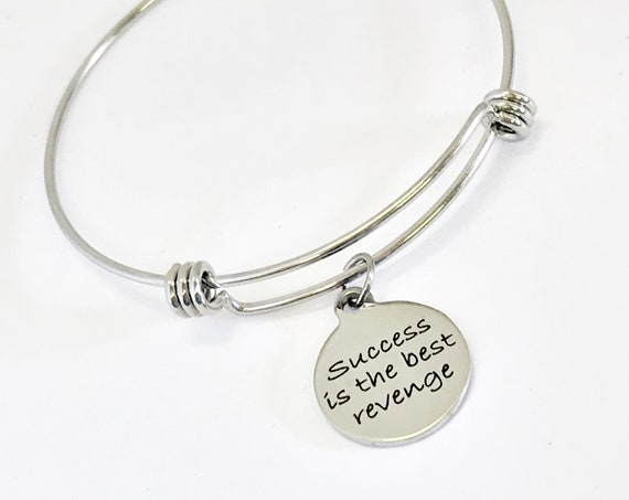 Inspiring Gifts, Inspiring Success, Inspiring Quote, Success Is The Best Revenge Bracelet, Daughter Gifts, Gifts For Her, Success Quote