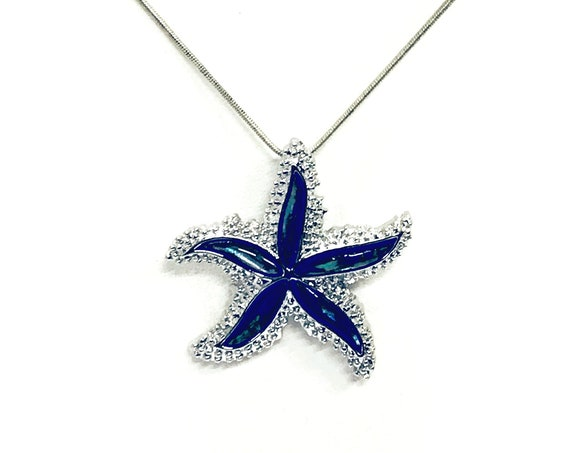 Starfish Pendant Necklace, Beach Lover Gift, Starfish Necklace, Beach Jewelry, Starfish Jewelry, Shell Pendant, Beach Style, Wife Jewelry