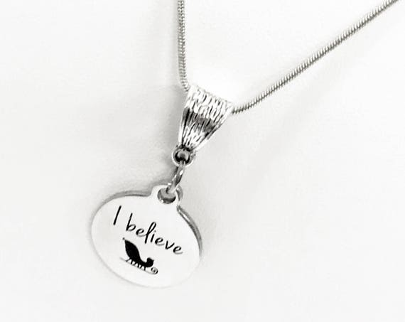 I Believe in Santa Necklace, Christmas Necklace, Santa Necklace, I Believe In Santa Jewelry, I Believe Jewelry, I Believe Necklace