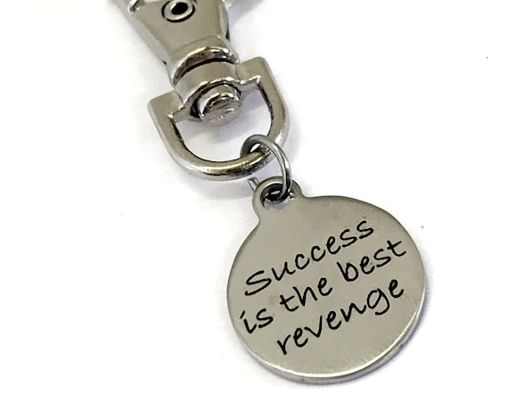 Motivational Charm, Sports Bag Charm, Success Is The Best Revenge, Motivational Gift, Inspirational Gift, Sports Bag Charm, Success Gift