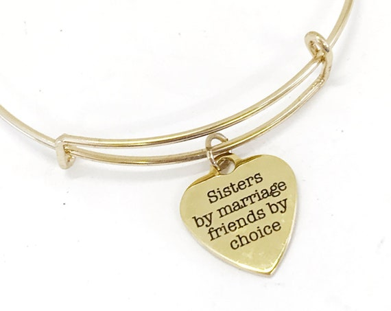 Stepsister Gift, Sister In Law Gift, Sisters By Marriage Friends By Choice, Stepsister Bracelet, Stepsister Love, Sister In Law Bracelet