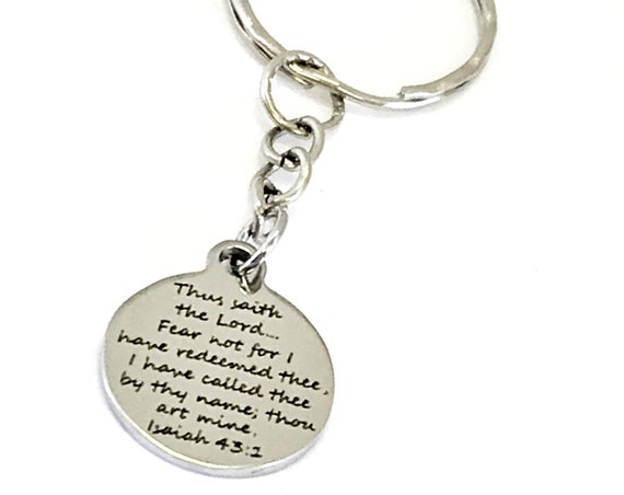 Christian Gift, Christian Keychain, Bible Verse Gift, Isaiah 43 1 Keychain, Redeemed Keychain, Scripture Gift, He Has Called Us By Name
