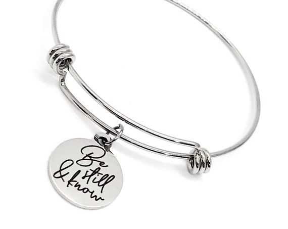 Faith Gift, Be Still And Know Bracelet, Psalm 46 10 Charm, Scripture Gift, Scripture Quote, Stacking Bangle, Charm Bracelet, Faith Jewelry