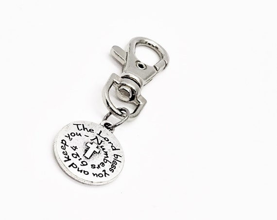 Scripture Gift, The Lord Bless You And Keep You Clip On Charm, Numbers 6 24, Cross Charm, Scripture Quote, Scripture Blessing, Blessing Gift