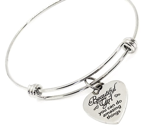 Daughter Gift, Beautiful Girl You Can Do Amazing Things Bracelet, Gift For Her, Granddaughter Gift, Encouraging Her, Motivating Her