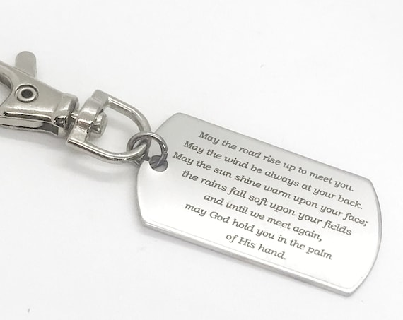 Irish Blessing Charm, Keychain Charm, Clip On Charm, Bag Charm, Irish Blessing Quote, Moving Gift, Going Away Gift