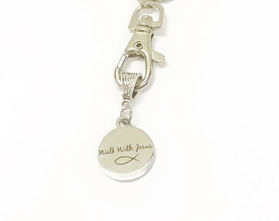 Walk With Jesus Keychain, Christian Gift for Her, New Car Gift For Daughter, Going To College Gift, Baptism Gift, Confirmation Gift of Love