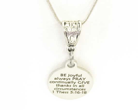 Christian Gift, Christian Jewelry, Christian Necklace, Be Pray Give Necklace, Scripture Gift, Bible Verse Gift, Graduation Gift For Her