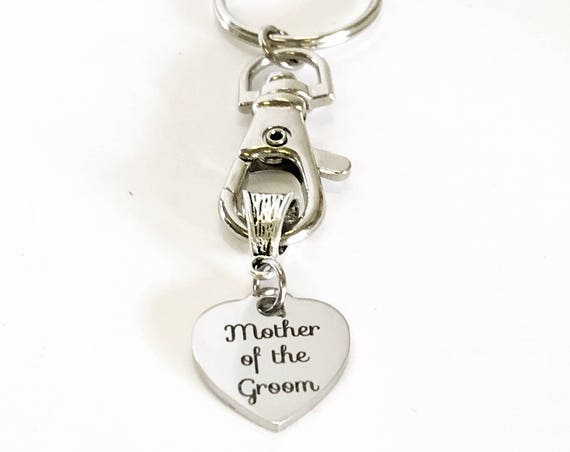Mother Of The Groom Keychain, Gift For Fiance's Mom, Mother In Law Gift, MIL Wedding Gift, Mother In Love Gift, Groom's Mom Gift For Her