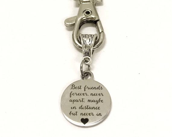 Best Friends Keychain, Best Friends Forever Never Apart, Best Friend Gift, Gift for Best Friend, BFF Gift, Gift For BFF, Never Apart