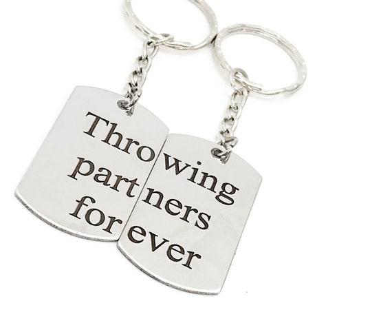 Throwing Partners Forever Keychain Set, Baseball Player Gift, Father Son Gift, Softball Keychains, Pitcher Catcher Keychains, Graduation