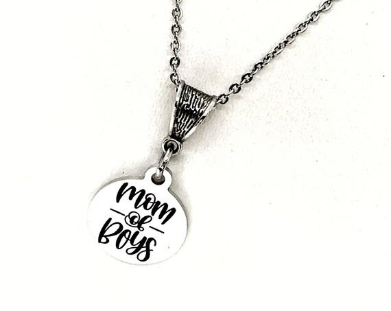 Mom Gift, Mom Of Boys Necklace, Mom Jewelry, Mom Necklace, Wife Jewelry, Wife Gift, Gift For Her, Gift For Mom, Gift For Wife, Jewelry Gift