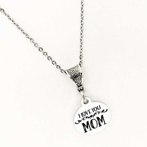 Mom Gift, I Love You Mom Necklace, Mom Jewelry, New Mom Gift, New Mother Gift, Gift For Mom, Mom Birthday, Wife Gift, Gift From Kids