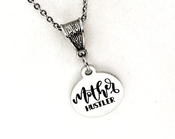 Mom Gift, Mother Hustler Necklace, Gift For Mom, Mom Entrepreneur Gift, Mompreneur Gift, Mom Side Hustle, Direct Sales Team Gift