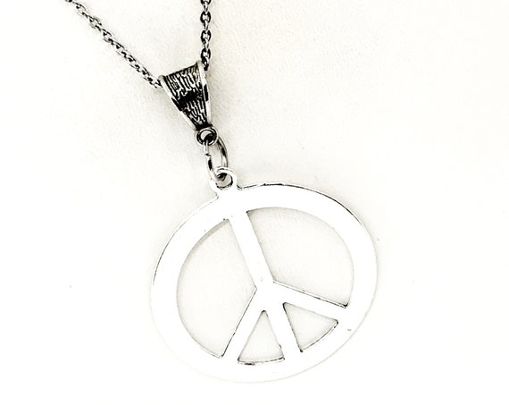 Peace Jewelry, Peace Symbol Necklace, Gift For Her, Peace Gifts, Peace Symbol, Peace Pendant