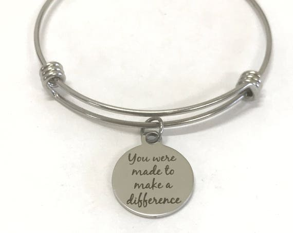 Encouragement Gift Bracelet, You Were Made To Make A Difference Bracelet, Encouragement Jewelry Gift, Encouragement Gift For Daughter