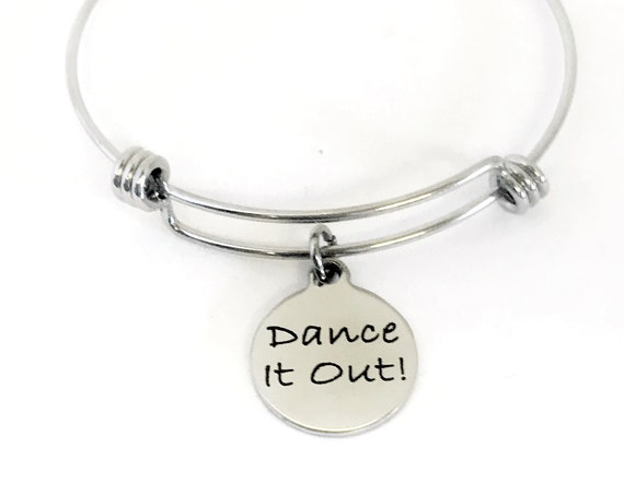 Dance It Out Bracelet, Dance Gift, Dance Jewelry, Dance Bracelet, Dance It Out Charm, Girlfriend Gift, Dance Partner Gift, Now We Dance