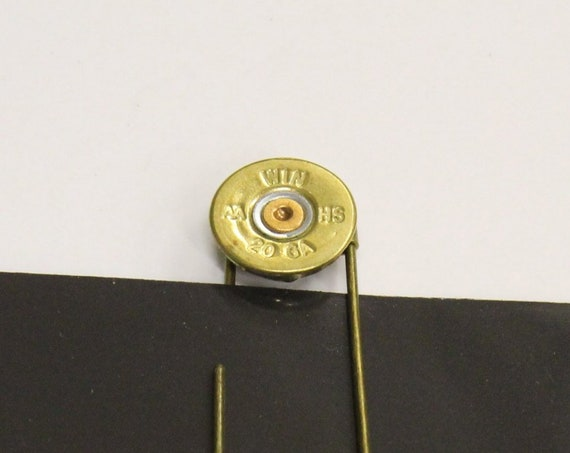 20 Gauge Shotgun Shell Head Antique Brass Paper Clip Book Mark, Shooting Sports Gifts, Shotgun Shell Gift, Shotgun Shell Bookmark Gift