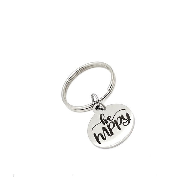 Motivating Gift, Be Happy Keychain, Charm Keychain, Affirmation Gifts, Affirmation Quotes, Encouraging Her, Encouraging Him, Happy Gift