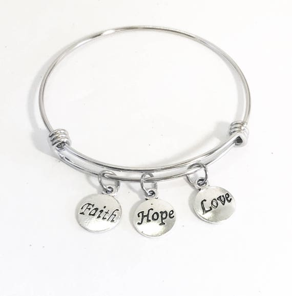 Faith Hope Love Bracelet, Scripture Jewelry, Scripture Bracelet, 1 Cor 13 Bracelet, First Corinthians Bracelet, Bible Verse Gift For Her
