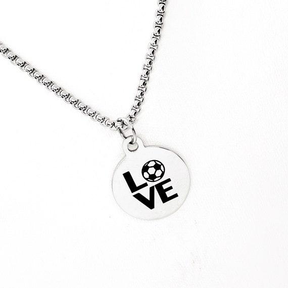 Soccer Necklace, Soccer Love Gift, Soccer Player Gift, Soccer Valentine, Soccer Mom Gift, Soccer Girlfriend Gift, Son Gift, Daughter Gift