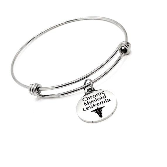 Medical Charm Bracelet, Chronic Myeloid Leukemia Charm Bracelet, CML Awareness, CML Jewelry, Medical Charm, Medical Notification
