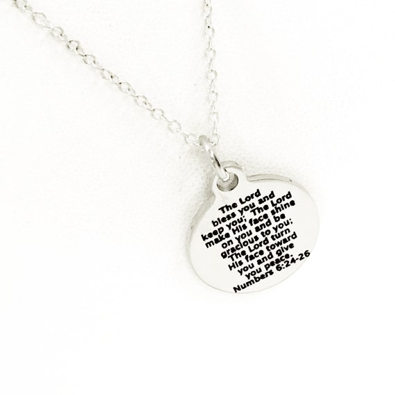 Christian Jewelry, The Lord Bless You And Keep You Necklace, Numbers 6 Scripture Jewelry, Christian Gift, Christian Blessing Jewelry