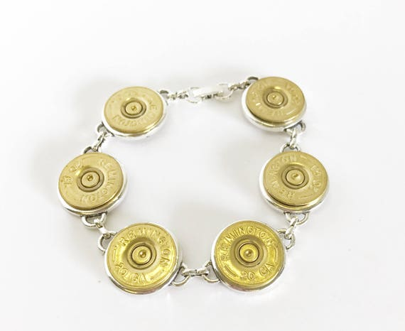 20 Gauge Shotgun Shell Bracelet, Shooting Sports Jewelry Gift for Her, Wife Jewelry Gift, Southwestern Style, Country Western Style Bracelet