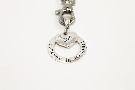 Forever In My Heart Remembrance Keychain, Remembering Loved Ones, Sympathy Gift for Her, Gift For Him, Missing You Gift Keychain, Wife Gift
