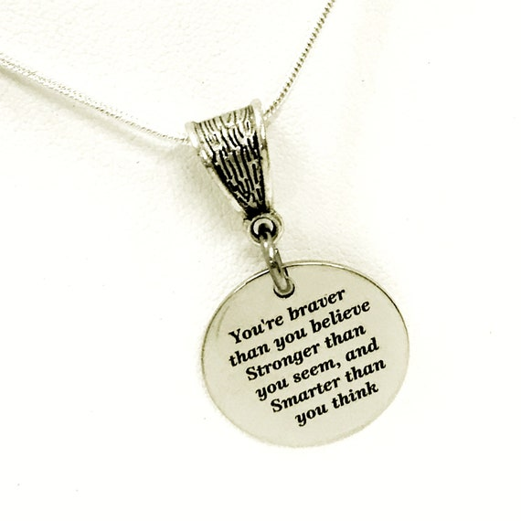 Braver Stronger Smarter, You Are Braver Stronger Smarter Necklace, Encouraging Necklace Gift For Her, Daughter Necklace, Motivating Gift