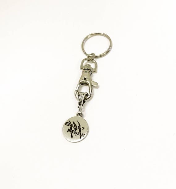 Beast Mode Keychain, Encouragement Gift for Him, Strong Woman Gift for Her, Sports Keychain, Positive Mindset Gift, Exercise Coaching Gift