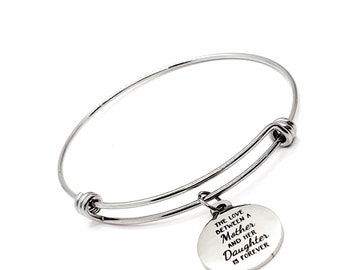 Mother Daughter Gift, The Love Between A Mother And Her Daughter Is Forever Charm Bracelet, Mom Gift, Daughter Gift, Gift For Her