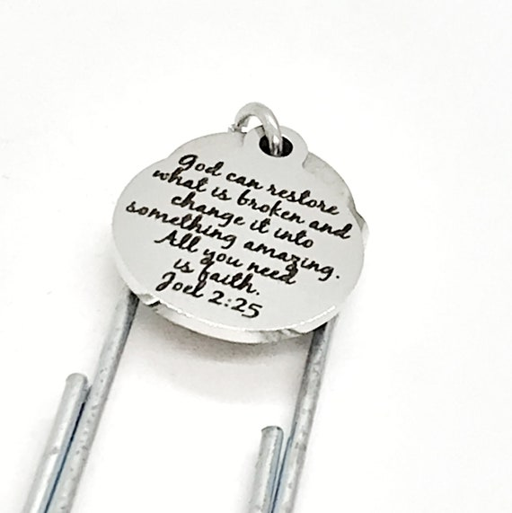 Bookmark Gift, God Can Restore What Is Broken Bookmark, Charm Bookmark, Planner Gift, Planner Bookmark, Bible Bookmark, Christian Charm Gift