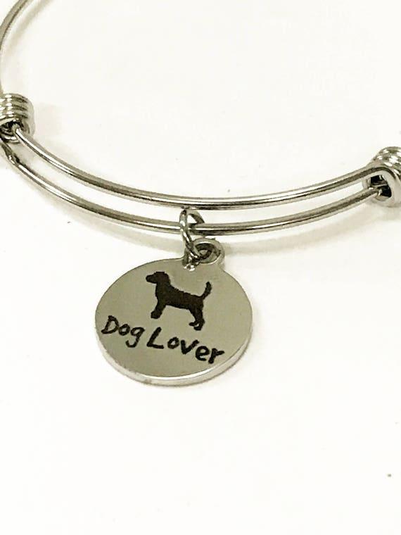 Dog Lover Expanding Bangle Charm Bracelet, Stacking Bracelet, Stackable Bangle, Pet Lover Gift, Dog Mom Gift, Dog Mama, New Dog Owner Gift