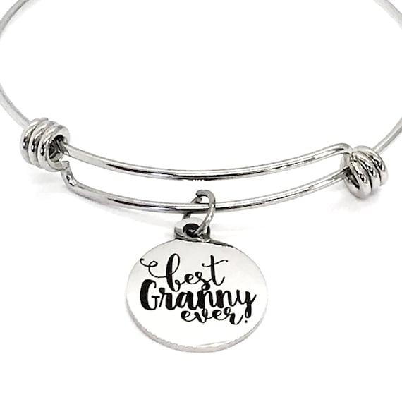 Granny Gift, Best Granny Ever Bracelet, Granny Jewelry, Granny Mother's Day Gift, Pregnancy Announcement Gift, Gift For Granny